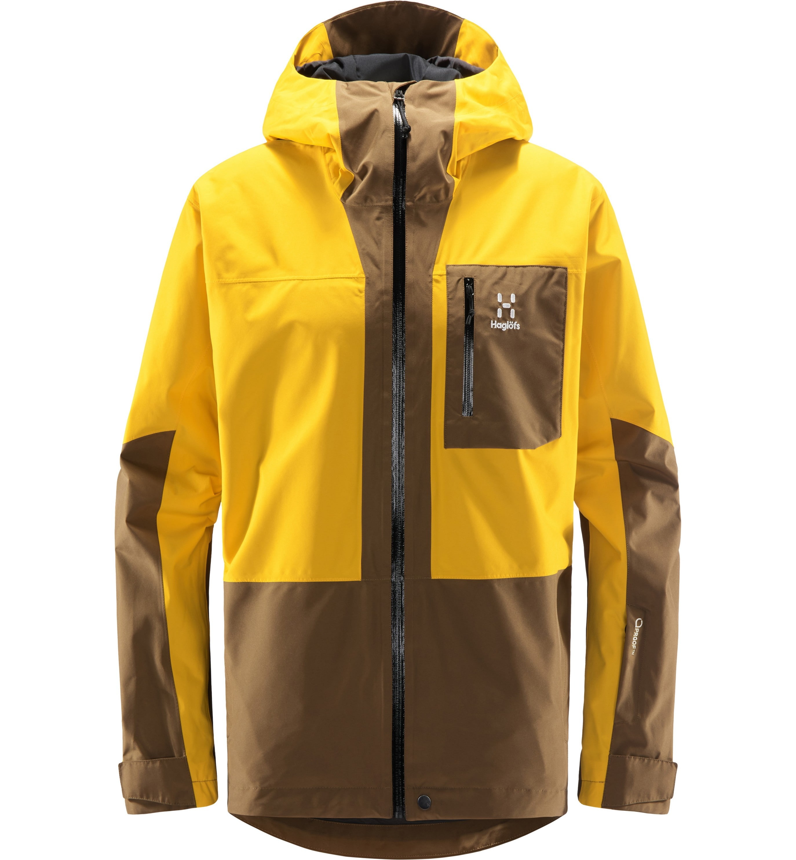 Haglöfs Lumi Jacket Men Pumpkin Yellow/Teak Brown