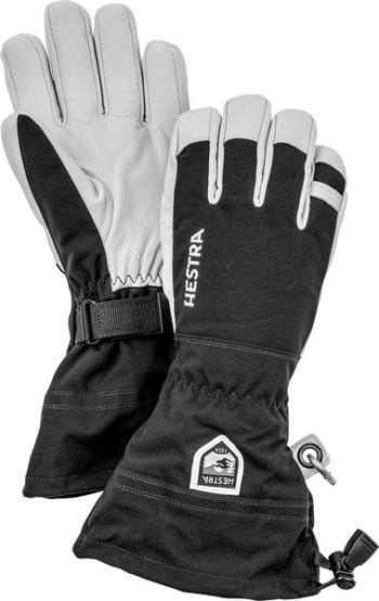 Hestra Army Leather Heli Ski 5 finger Svart