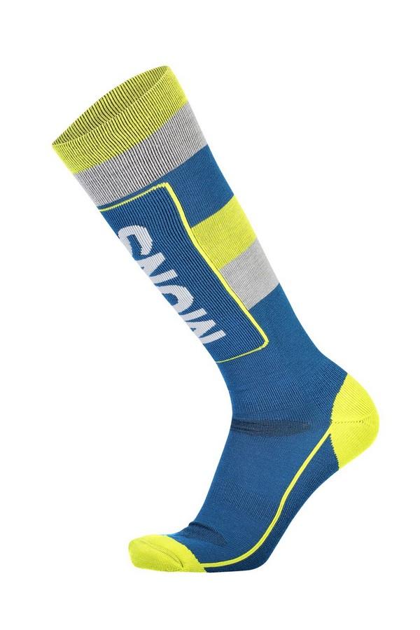 Mons Royale Tech Cushion Sock Oily Blue / Grey / Citrus