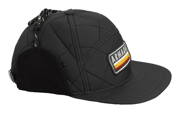 Armada Seven Panel Quilted Hat Black